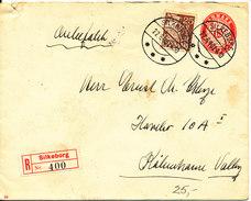 Denmark Registered Uprated Postal Stationery Cover Silkeborg 22-6-1940 - Entiers Postaux