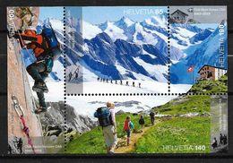 2013 Zu 1455-1458 / Mi 2288-2291 150 Ans Club Alpin Suisse ** / MNH - Nuevos
