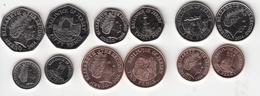 Jersey Decimal Coin Set 1p, 2p, 5p, 10p, 20p, 50p 2014 Uncirculated - Jersey