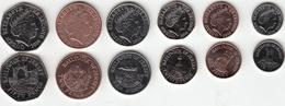 Jersey Decimal Coin Set 1p, 2p, 5p, 10p, 20p, 50p 2016 Uncirculated - Jersey
