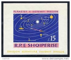 ALBANIA 1964 Solar System Planets  Imperforate Block 28 MNH - Albania
