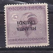 Ruanda-Urundi Nr 65 Cu Neuf Avec Charnière - Postfris Met Plakker - MH  (X)  Surcharge Renversé - Opdruk Omgekeerd - Ruanda-Urundi
