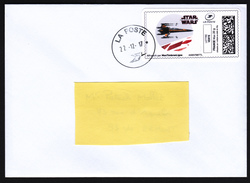 FRANCE 2017 Star Wars Last Jedis Chasseur Stellaire X-Wing Letter RARE - Cinema