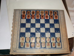 Chess Set Old, On Cardboard ICCF - Group Games, Parlour Games
