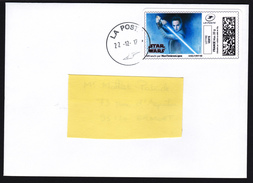 FRANCE 2017 Star Wars Last Jedis Rey Letter RARE - Cinema