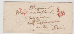 FP200 /  FRANKREICH - Pothion 1728, PP Rot, Büro J 1835 - Poststempel (Briefe)