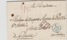 FP201 / FRANKREICH -  Paris - Genf 1835 Mit Komplettem  Textinhalt Und In Super Erhaltung - Poststempel (Briefe)