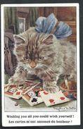 +++ CPA - Carte Fantaisie - Chat - Cat - Katze - Illustrateur - Jeu De Cartes - Tarot - Artistic Series - 1921  // - Gatti