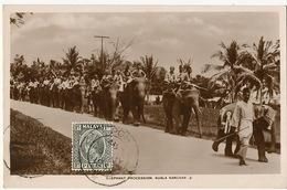 Real Photo Kuala Kangsar Elephant Procession  P. Used Ipoh Perak  To France - Malaysia