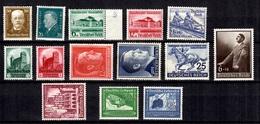 Allemagne/Reich Belle Petite Collection Neufs ** MNH 1927/1943. Bonnes Valeurs. TB. A Saisir! - Germany