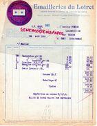 45- NOGENT SUR VERNISSON- RARE FACTURE EMAILLERIES DU LOIRET -EMAIL A M. PIERRE QUINCAILLIER A GRAY -1926 - Old Professions