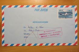 Aérogramme Expédié En Irak, Acheminement Provisoirement Suspendu Pour Cause De Guerre Du Golfe (1991) - 1961-....