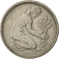 Monnaie, République Fédérale Allemande, 50 Pfennig, 1949, Stuttgart, TTB - [ 6] 1949-1990 : GDR - German Dem. Rep.