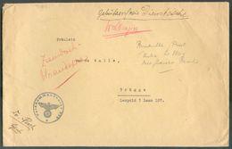 Env. En Franchise Obl. Sc FELDKOMMANDANT 603 *vers Brugge  TB  - 12350 - Weltkrieg 1939-45