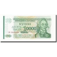 Billet, Transnistrie, 10,000 Rublei On 1 Ruble, Undated (1996), KM:29, NEUF - Moldavie