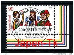 GERMANY  Mi.Nr. 3030 200 Jahre Skat - ESST -BERLIN -Eckrand Unten Rechts - Used - Gebraucht