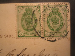 RUSSIA 2 KOP PAIR On 1902 POSTCARD - 1857-1916 Empire