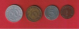 III Reich   --  Lot De 4 Monnaies - [ 4] 1933-1945 : Third Reich