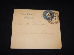 Argentina 1899 Buenos Aires 1c Blue Wrapper__(L-6761) - Postal Stationery