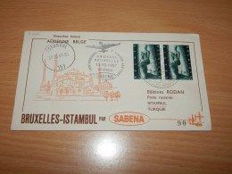 Belgium 1957 Sabena First Flight Bruxelles-Istambul__(L-7768) - Belgium