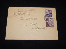 Böhmen Mähren 1943 Klatovy Hittler Stamp Cover__(L-5734) - Bohemia & Moravia