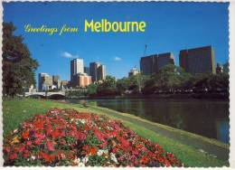 MELBOURNE VICTORIA VIEW OF THE YARRA BANK WITH PRICES BRIDGE AND CITY SKYLINE NICE STAMP - Melbourne