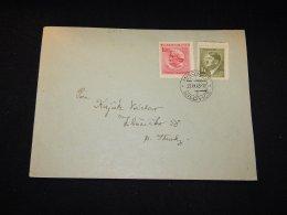 Böhmen Mähren 1943 Milowitz Hittler Stamp Cover__(L-5737) - Bohemia & Moravia