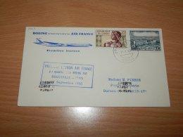 Congo (Brazzaville) 1960 Air France First Flight Brazzaville-Paris__(L-7569) - Gebraucht