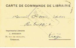 CP/PK Publicitaire TIENEN 1915 - J. SHEEREN - Drukkerij-Boekhandel Te TIRLEMONT - Cachet De Censure Militaire - Tienen