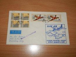 Czechoslovakia 1971 Slov Air First Flight Bratislava-Karlovy__(L-7493) - Czechoslovakia