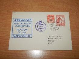 Denmark 1957 Aeroflot First Flight Copenhagen-Moscow__(L-7501) - Covers & Documents