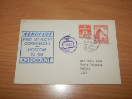 Denmark 1957 Aeroflot First Flight Copenhagen-Moscow__(L-7501) - Dänemark