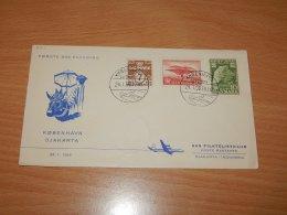 Denmark 1958 SAS First Flight Copenhagen-Djakarta__(L-7711) - Denmark