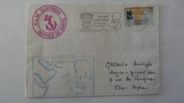 Lettre Du F.L.M. Suffren ,mission1987/1988, - Lettres Accidentées