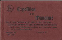 Bruxelles - Exposition De La Miniature - Mai-Juin 1912 (carnet Avec 11 Cartes (-1)) - Tentoonstellingen