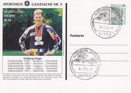 PP 153/1 Sporthilfe-Ganzsache.9 - Wolfgang Hoppe, Bob, Altenberg,Erzgeb. - BRD