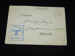 Germany 1941 Deutsche Reichpost Feldpost Cover__(L-6311) - Allemagne