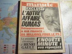 Minute N°1281 Du 24 Au 30 Octobre 1986 L'autre Affaire Dumas... - Politique