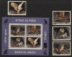 1987 Israel Biblical Bird, Owl, Birds Of Prey Birds Fauna (4v)+ M/Sheet MNH (M-285) - Owls
