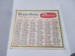 Calendrier De Poche 1964 Produits DAMOY Café La Tasse Vin Granvillons - Calendars