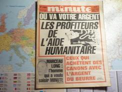Minute N°1282 Du 31 Octobre Au 6 Novembre 1986 Où Va Votre Argent - Les Profiteurs De L'aide Humanitaire... - Politique