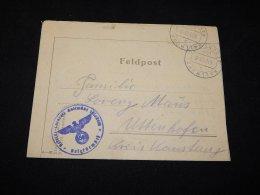 Germany 1943 Kallmunz Feldpost Letter__(L-6256) - Brieven En Documenten