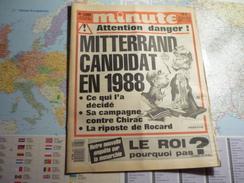 Minute N°1285 Du 21Novembre Au 27 Novembre 1986 Mitterrand Candidat En 1988 .... - Politique
