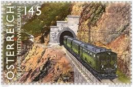 Austria Österreich 2012 - Austria Österreich 2012 - Eisenbahnen - 100 Jahre Mittenwaldbahn Mnh - Trains
