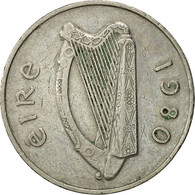 Monnaie, IRELAND REPUBLIC, 10 Pence, 1980, TTB, Copper-nickel, KM:23 - Ireland