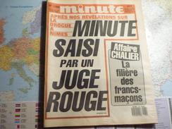 Minute N°1286 Du 28 Novembre Au 4 Décembre 1986 Minute Saisi Par Un Juge Rouge/ Affaire Challier ... - Politique