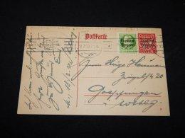 Germany Bayern 1920 Stationery Card__(L-5908) - Bayern