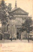 Liège - L'Eglise Sainte-Anne (animée, Albert Sugg, Tram Tramway) - Liege