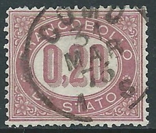 1875 REGNO SERVIZIO DI STATO USATO 20 CENT - R44-9 - 1861-78 Vittorio Emanuele II