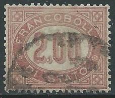 1875 REGNO SERVIZIO DI STATO USATO 2 LIRE - R44-9 - Servizi